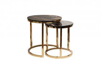 57EL-ET101В-BL Set of 2 coffee tables (imitat...