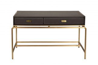 76AR-D671 Writing desk brown/matt gold