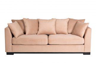 Roberto sofa three-seater folding beige